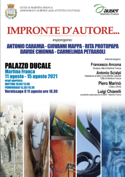 """""""IMPRONTE D'AUTORE…""""CINQUE ARTISTI JONICO SALENTINI A CONFRONTO"""